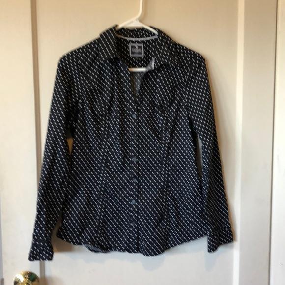 Express Tops - Express the essential shirt blk/wht polka dot top